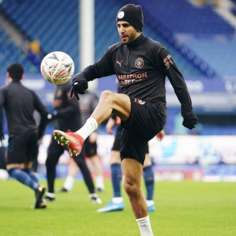 Mahrez's Manchester City FA Cup Away Signed Shirt