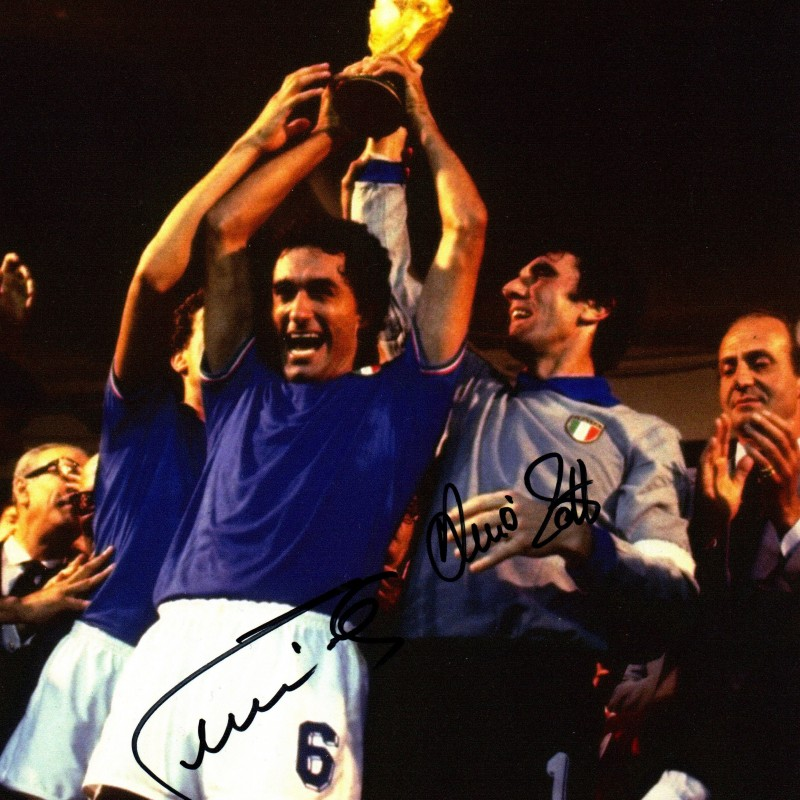 Claudio Gentile and Dino Zoff Signed Photograph - 20x25cm
