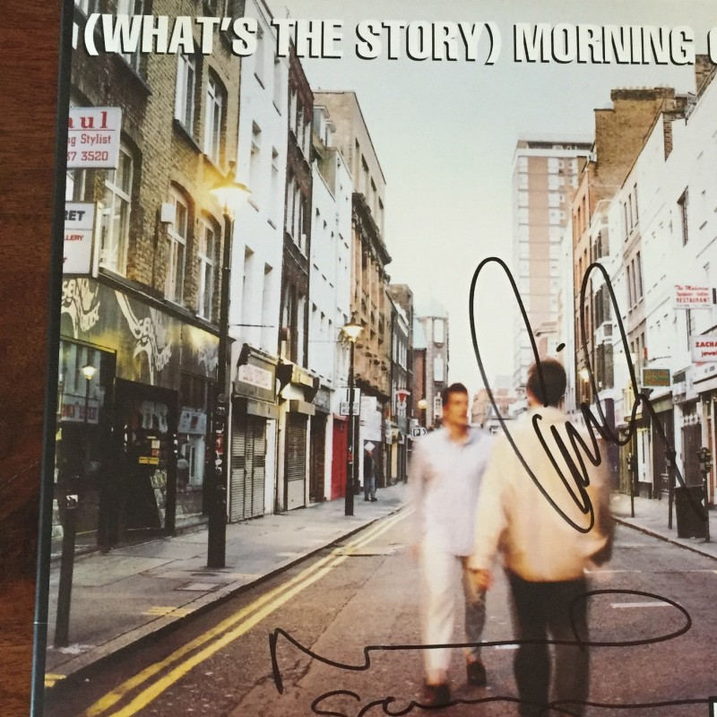 'Whats The Story Morning Glory?' Oasis Vinyl Signed by Noel and Liam Gallagher