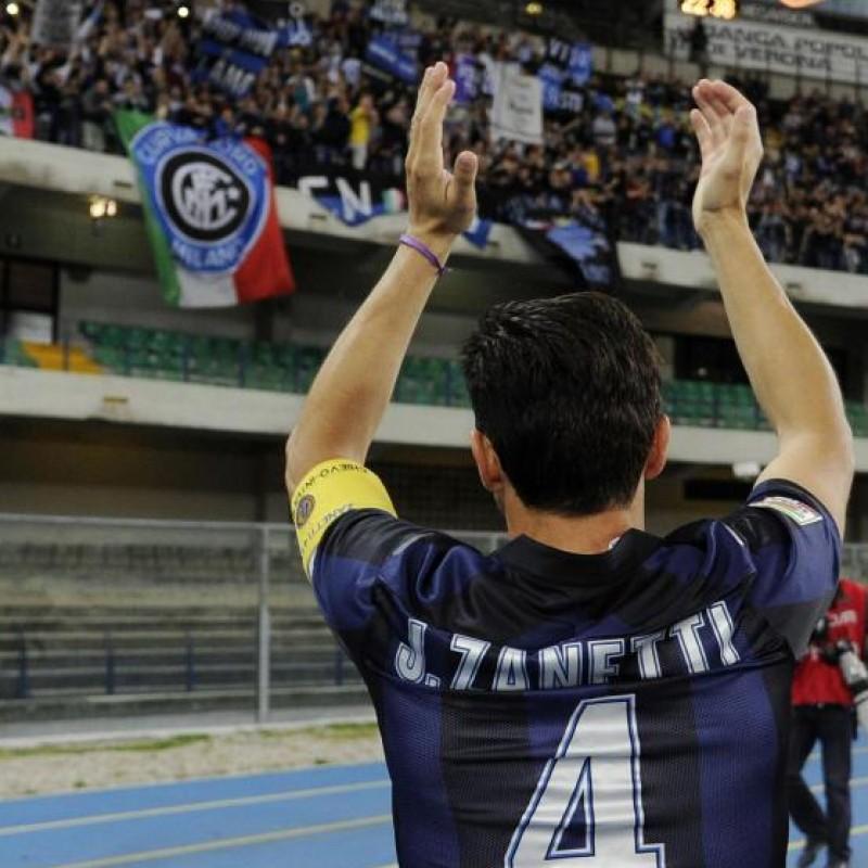 Zanetti match worn shirt, Inter-Chievo Verona, Serie A 13/14