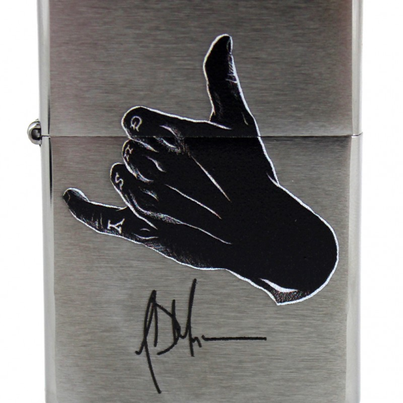 Jeffrey Dean Morgan Exclusive Zippo Lighter Chrome with Black Logo