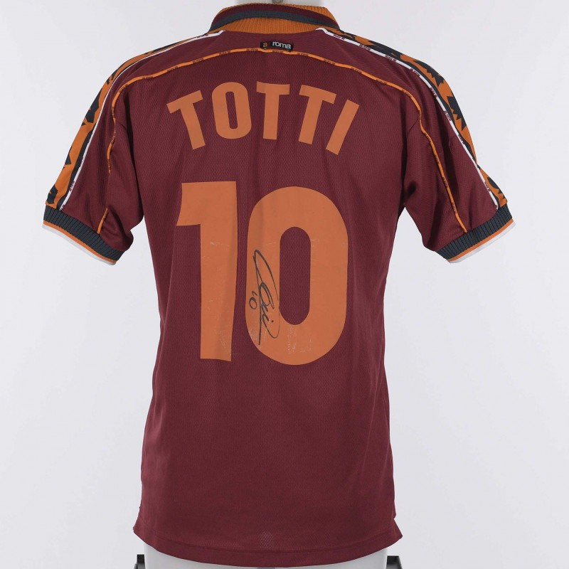 Francesco Totti's Roma Signed Shirt, 1998/1999 Season