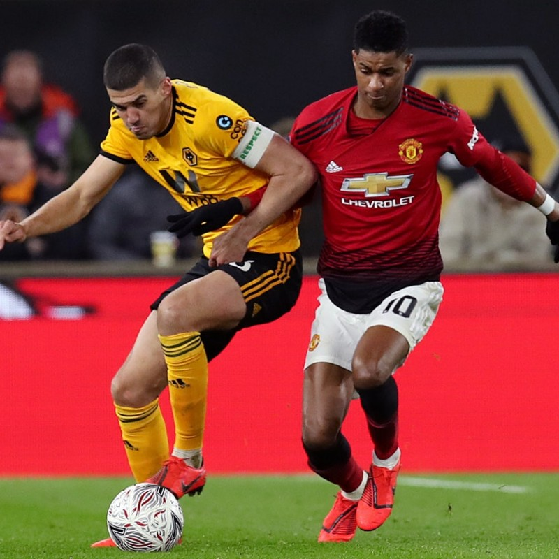 Rashford's Match Shirt, Wolves-Man Utd 2019
