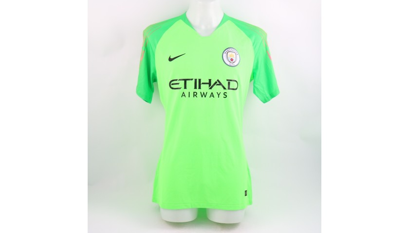 Ederson's Manchester City Match-Issued Shirt, Champions League 2018/19