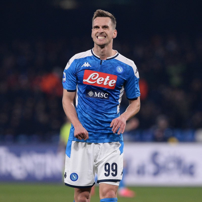 Milik's Napoli Worn and Signed Shirt, 2019/20