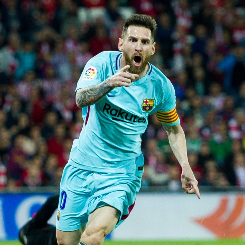 Messi Barcelona Match issued / worn Shirt, Liga 2017/18
