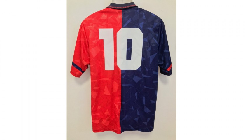 Cagliari No. 10 Match-Issued Shirt, 1991/92