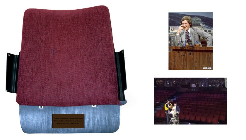 David Letterman Original Seat Back from The Ed Sullivan Theater