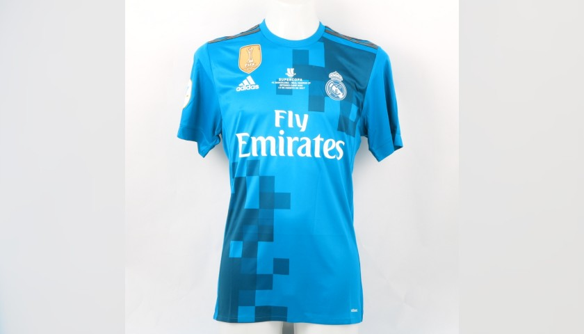 finest selection 411e9 975c6 Kroos' Real Madrid Match Shirt, UEFA Super Cup 2017 - CharityStars