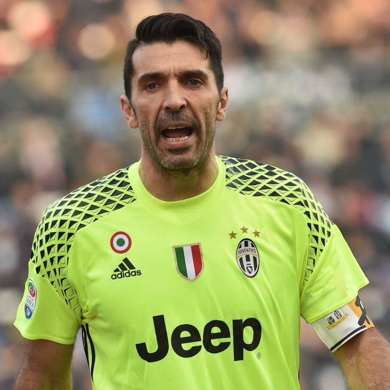 Buffon's Match-Issued Captain Armband, Sassuolo-Juventus 2016/17