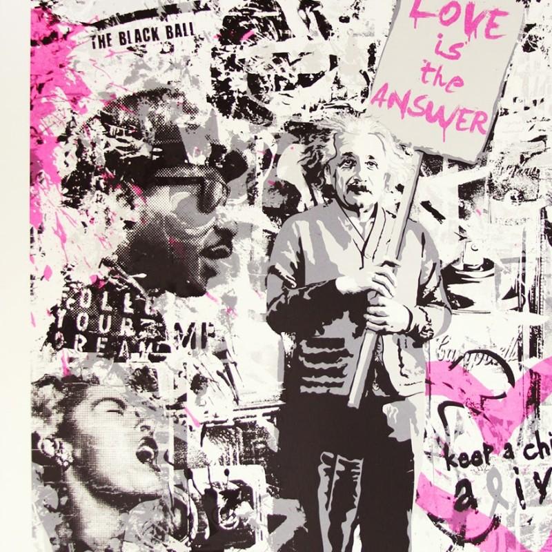 Mr Brainwash Limited Edition Print (Pink)