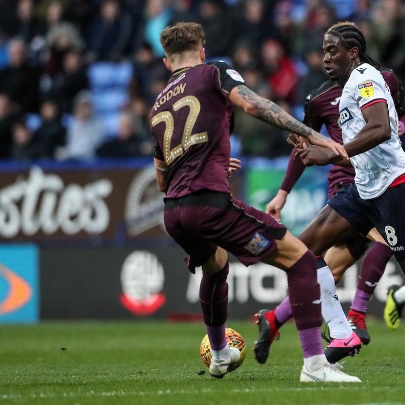 Rodon's Swansea City Match-Worn and Signed Poppy Shirt