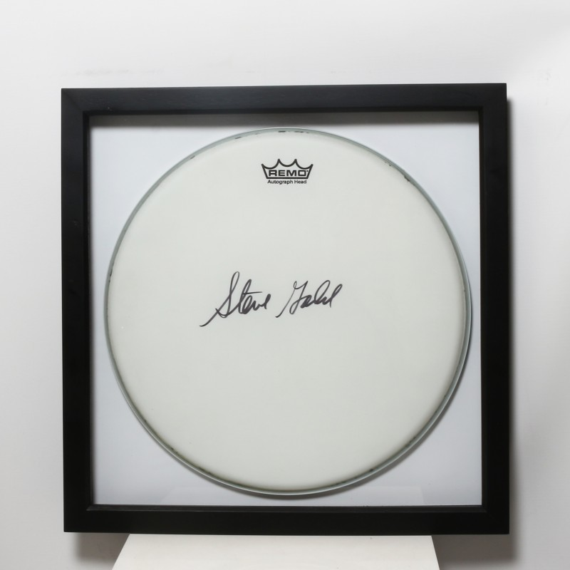 Steve Gadd Signed and Framed Drum Head