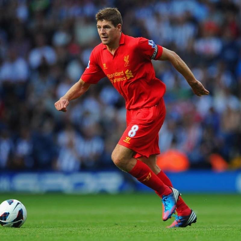 Gerrard's Liverpool Match Signed Shirt, 2012/13