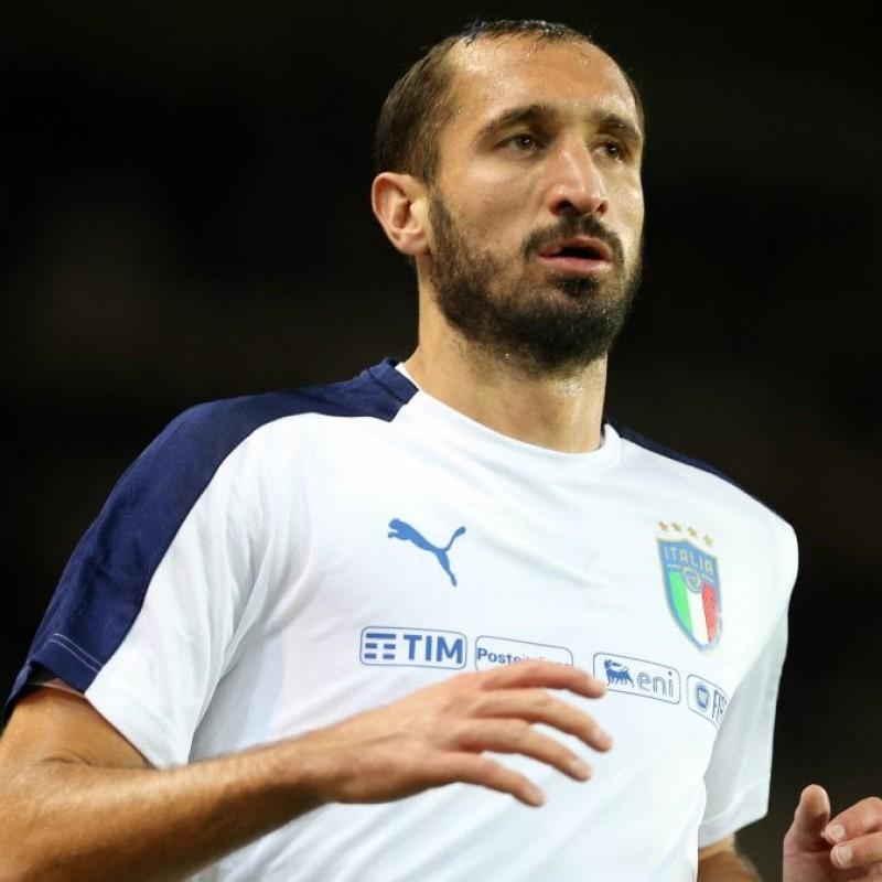 Chiellini's Signed Italy Training Shirt, 2018
