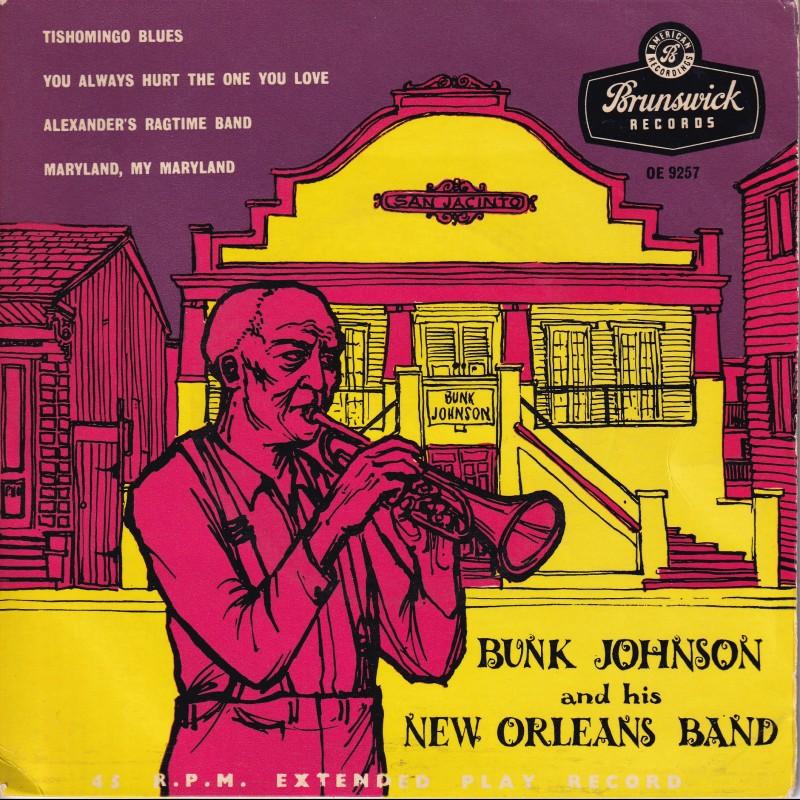"""Tishomingo Blues"" Vinyl Album - Bunk Johnson And His New Orleans Band, 1956"