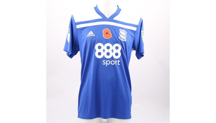 Roberts' Birmingham City FC Worn and Signed Poppy Shirt
