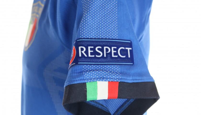Bastoni's Italy Match Shirt, Euro U-21 2019 + Match-Ball