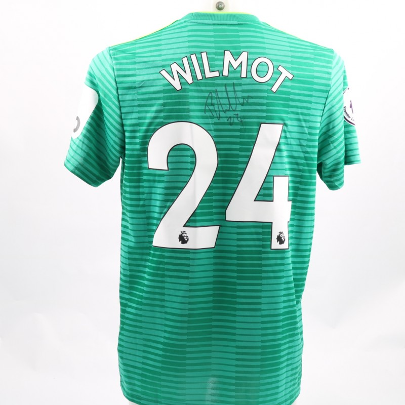 Wilmot's Watford FC Issued and Signed Away Poppy Shirt