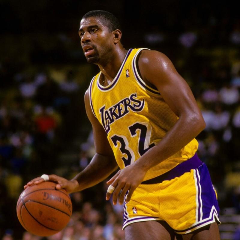 "Magic Johnson Signed NBA Basketball with ""Showtime"" Inscription"