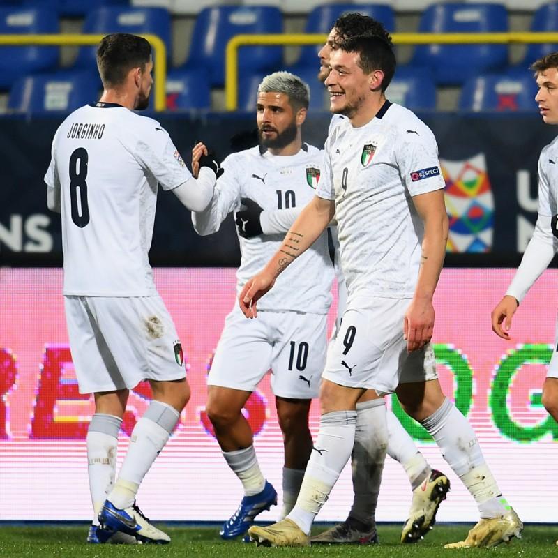 Jorginho's Match Shirt, Bosnia-Italy 2020
