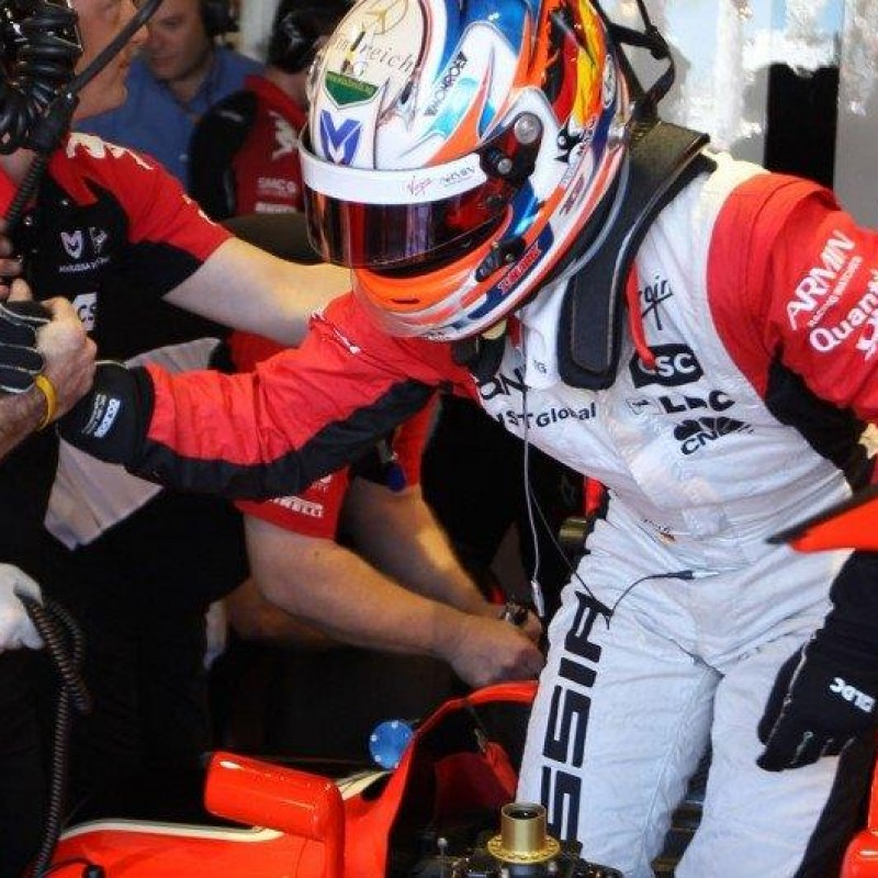 Timo Glock 2011 Marussia Worn Racing Suit