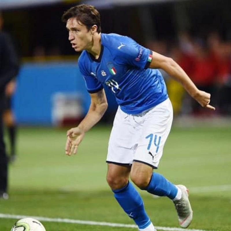 Chiesa's Match Shirt, Italy-Bosnia 2019