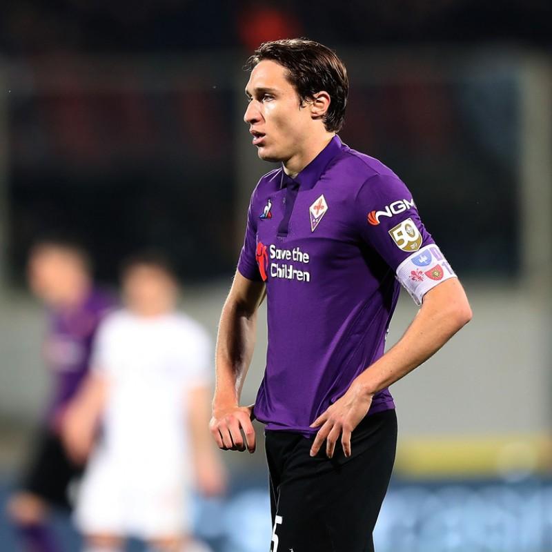 Chiesa's Match Shirt, Fiorentina-Milan 2019 - Scudetto 50th Anniversary