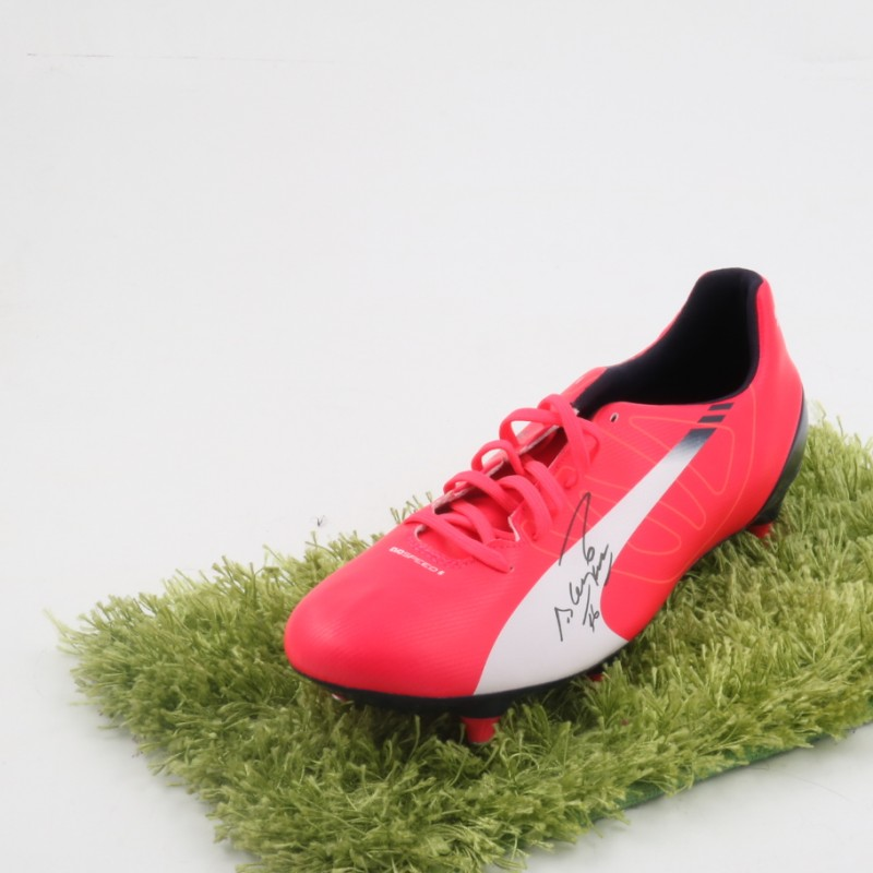 Sergio Aguero Signed Puma evoSPEED Football Boot