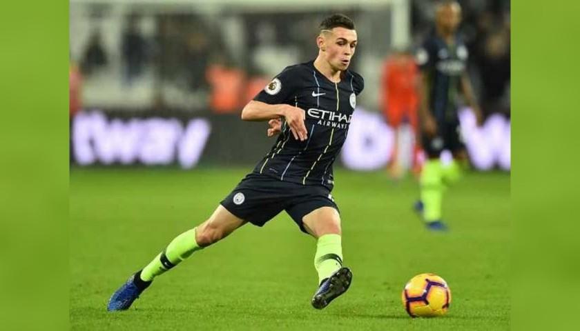 Foden's Manchester City Match Navy/Volt Shorts, Premier League 2018/19