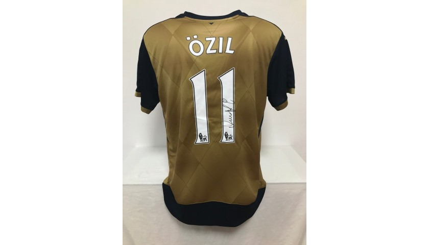 Ozil's Official Arsenal Signed Shirt, 2015/16