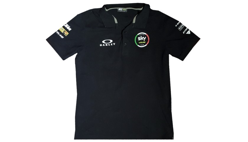 Photograph and Polo Shirt Worn by Luca Marini - Signed
