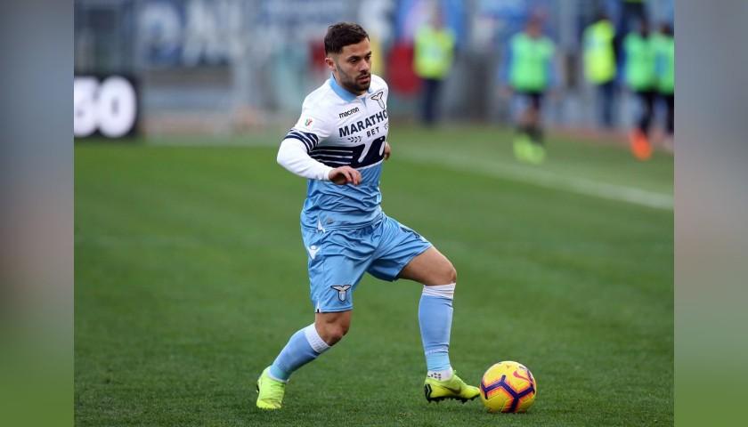 Durmisi's Lazio Worn Shirt, Serie A 2018/19 - CharityStars