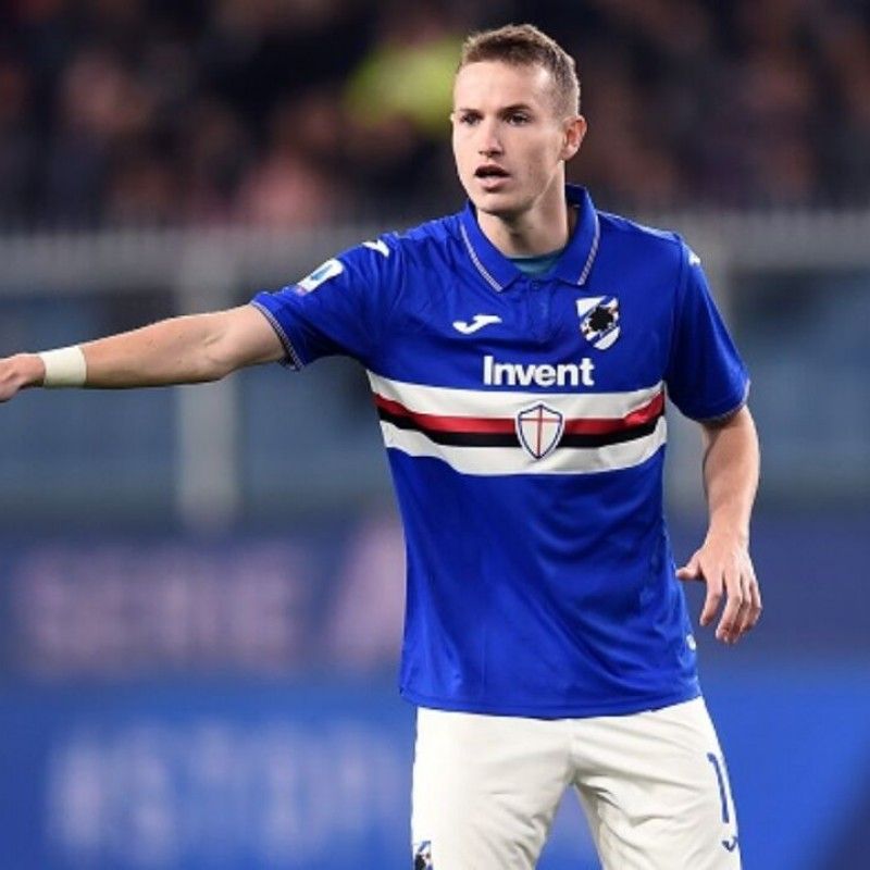 Jankto's Sampdoria Match-Issued Signed Shirt, 2019/20