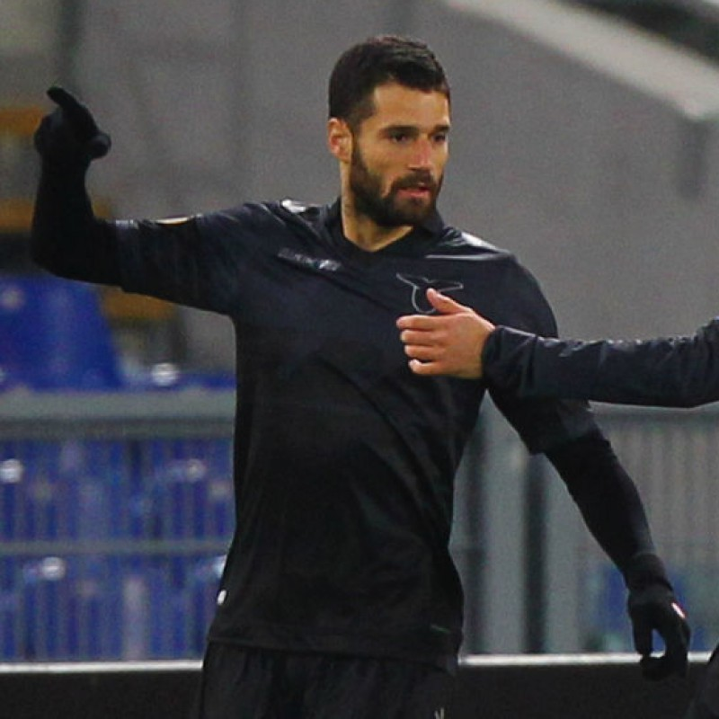 Candreva's Match Shirt, Lazio-Dnipro 2015 + Bib