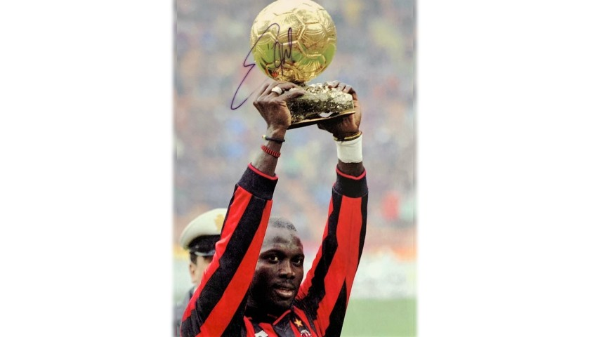 Photograph Signed by George Weah