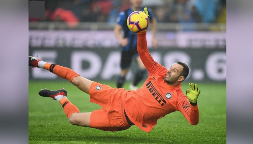 Handanovic's Inter Match-Issue and Signed Shirt, 2018/19