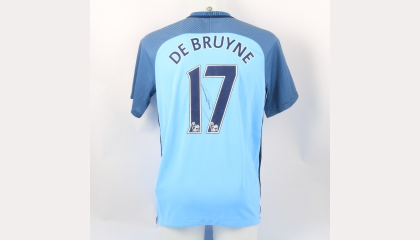 De Bruyne's Official Manchester City Signed Shirt