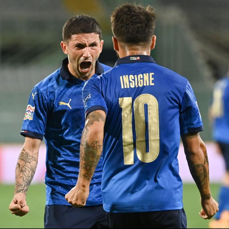 Insigne's Match Shorts, Italy-Bosnia 2020