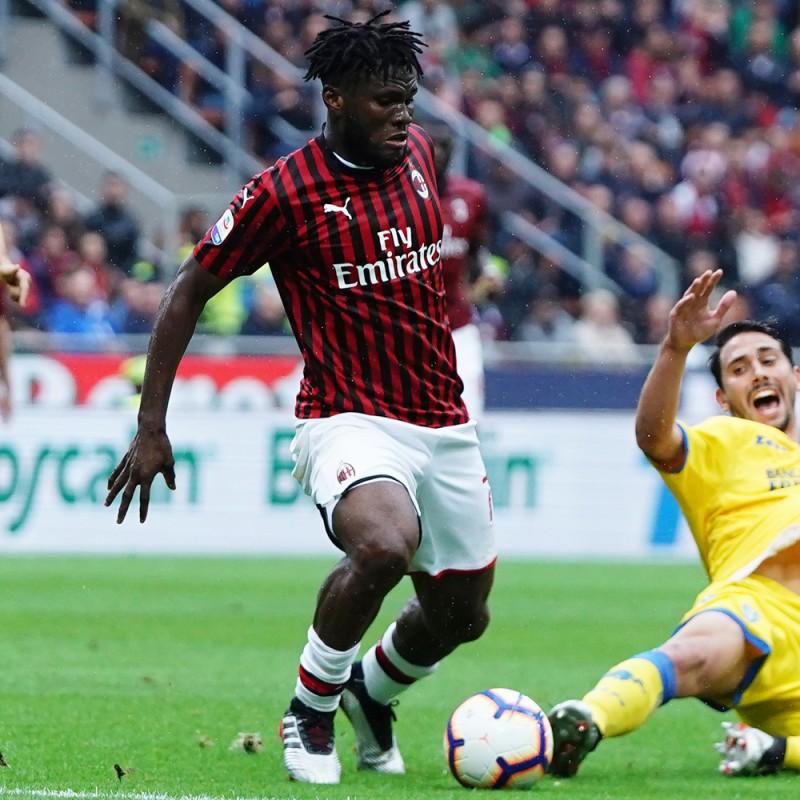 Kessie's Worn and Signed Shirt, Milan-Frosinone 2019