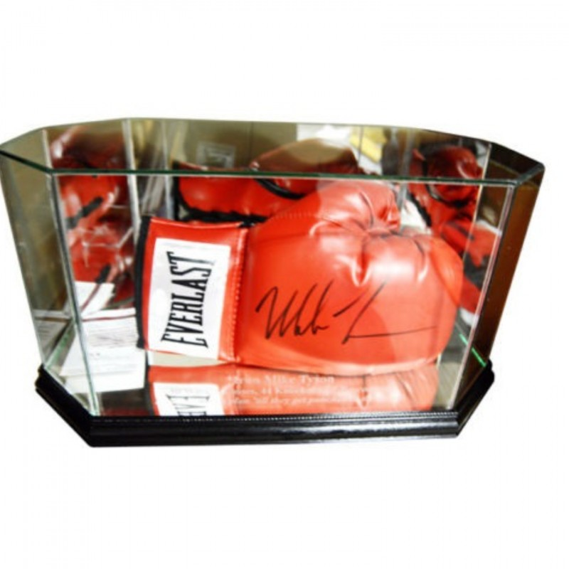 Mike Tyson Hand Signed Boxing Glove with Display Case