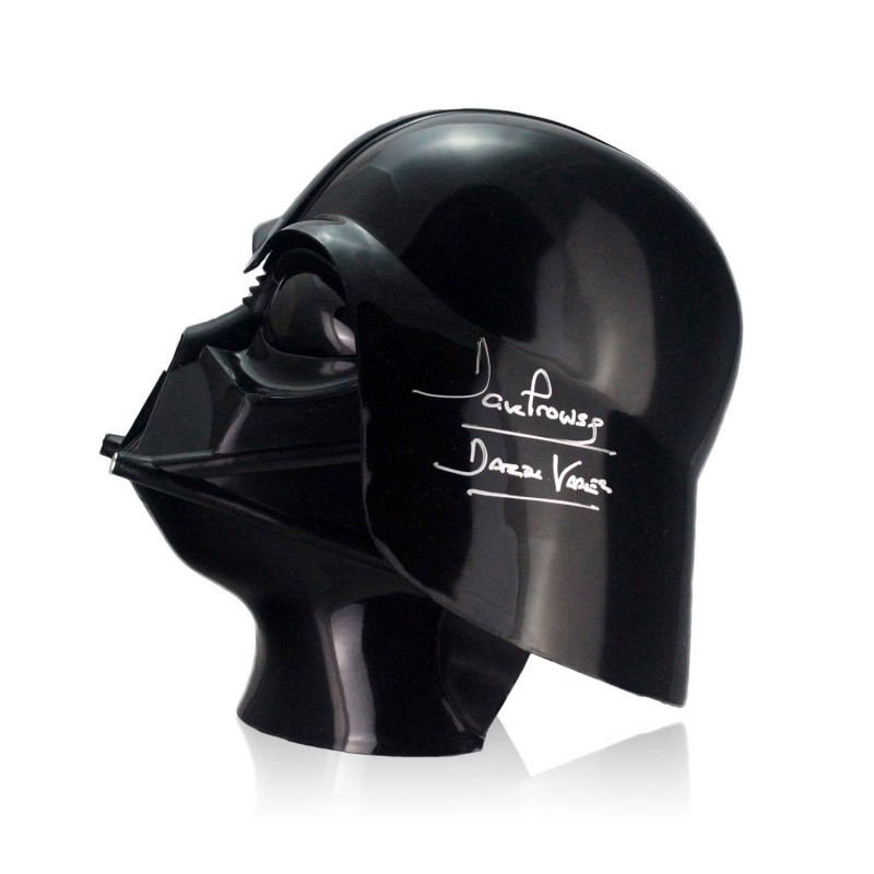Star Wars Darth Vadar Helmet Signed by David Prowse