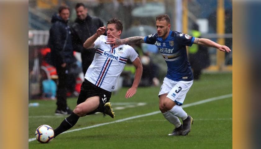Dimarco's Worn Kit, Parma-Sampdoria - #Blucrociati