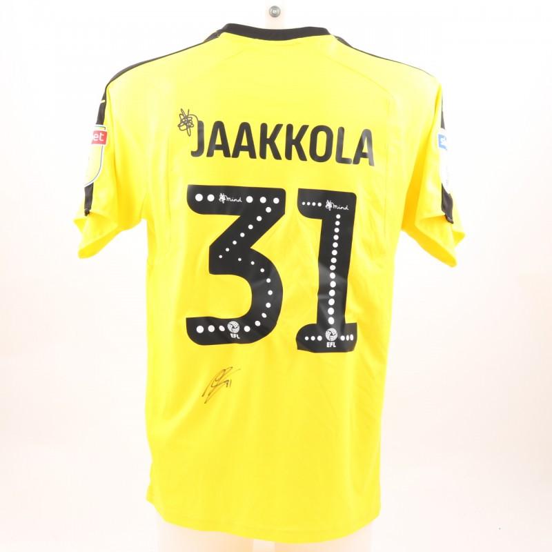 Jaakkola's Match-Worn Reading FC Signed Poppy Home Shirt