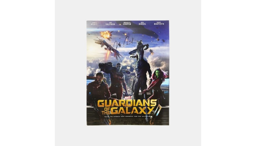 Guardians of the Galaxy Mini Poster Signed by Vin Diesel