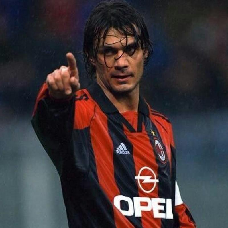 Maldini's AC Milan Signed Shirt