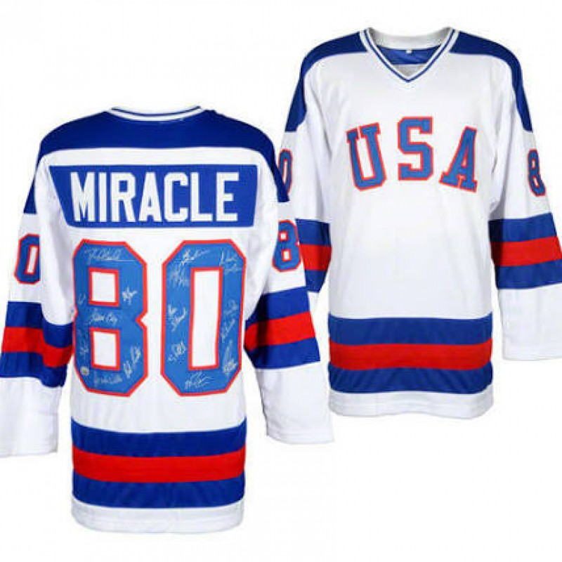 1980 USA Hockey Team Autographed Olympic Jersey