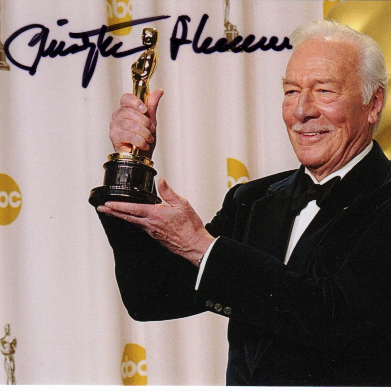 Christopher Plummer signed picture
