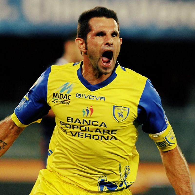 Pellissier's Official Chievo Verona Match Shirt, 2011/12
