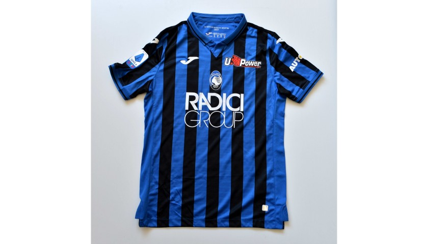 Gomez's Atalanta Match-Issued Shirt with Dedication, 2019/20